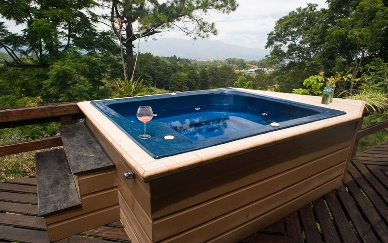 how to install a hot tub base